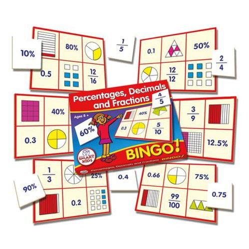 Percentages, Decimals & Fractions Bingo