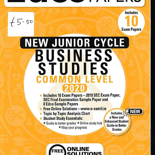 Edco New Junior Cycle Business Studies (Common Level) 2020