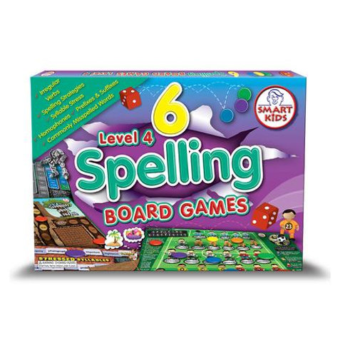 6 Spelling Board Games Level 4