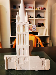 Abbaye Déols Drone et Impression 3D par Aérotech-Système & ABGS