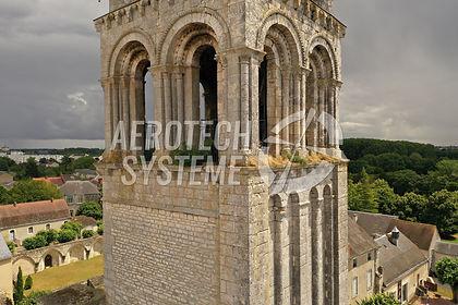 Abbaye de Déols Indre Drone Aérotech-Système & Impression 3D ABGS Solution