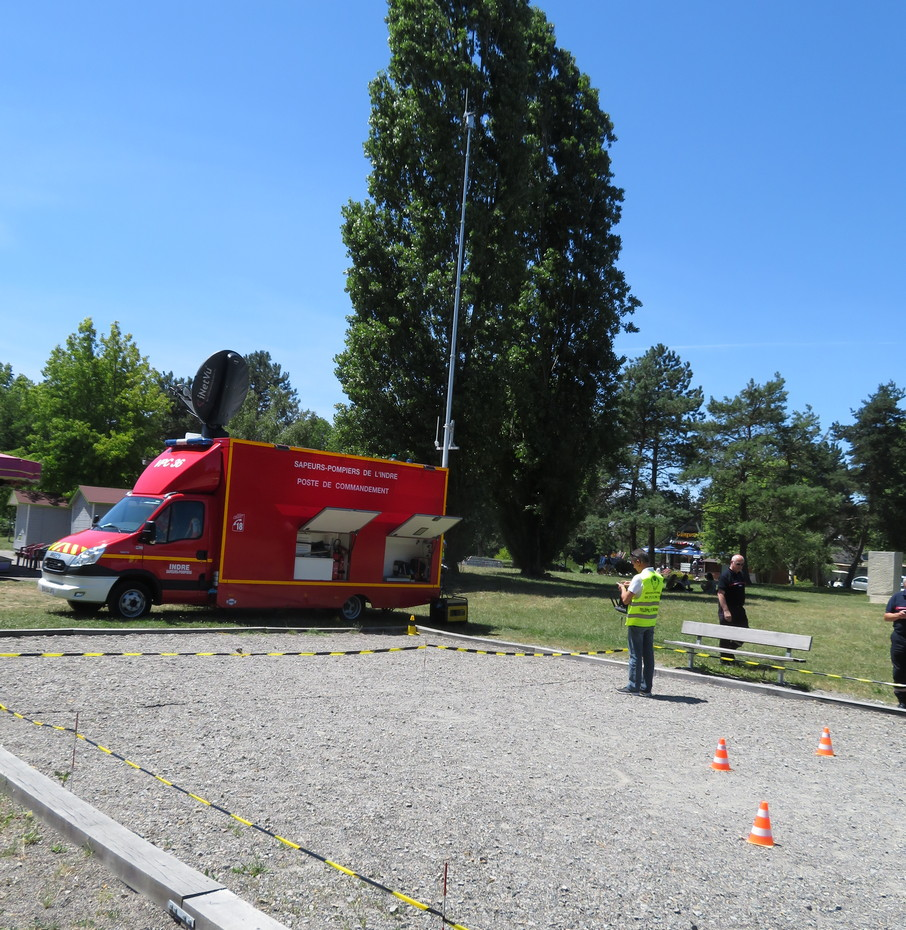 Exercice SDIS36 Châteauroux Pompiers