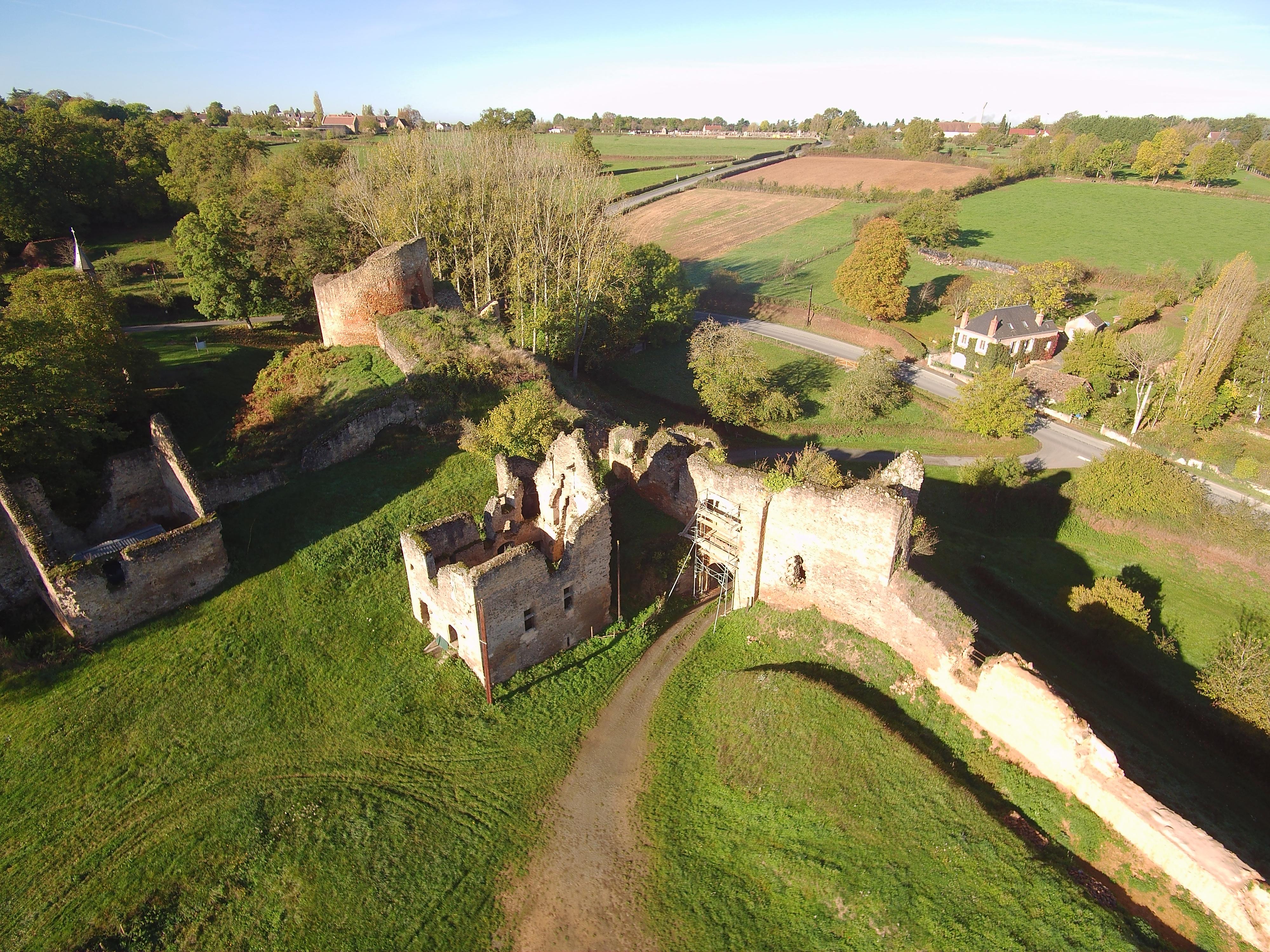 Vue par drone site archéologique