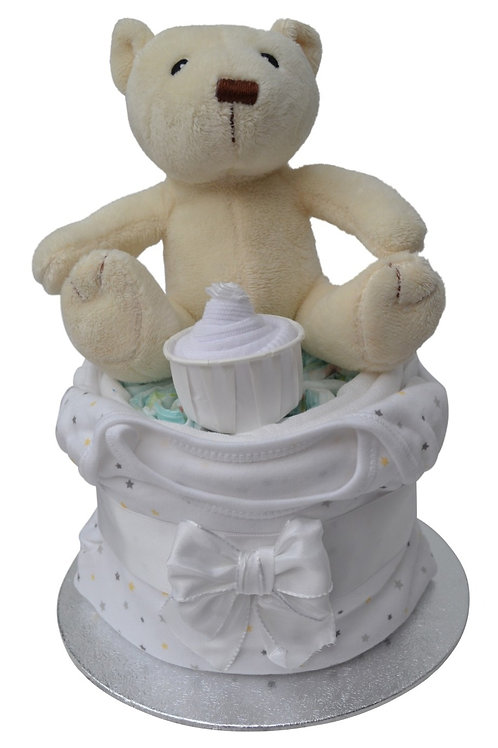 Bibi Bear Neutral Nappy Cup Cake