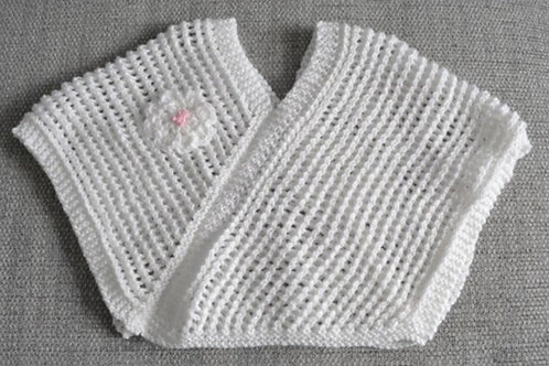 Baby Girls Hand Knitted Poncho 3-6 Months