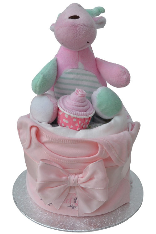 Daisy Baby Girl Nappy Cup Cake