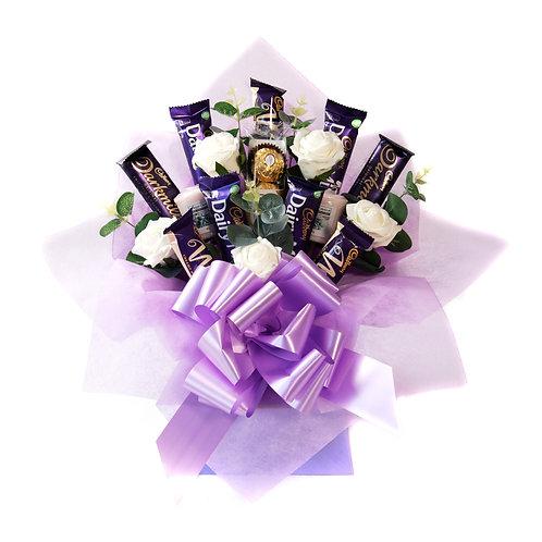 Cadburys & Candles Lilac Chocolate Bouquet