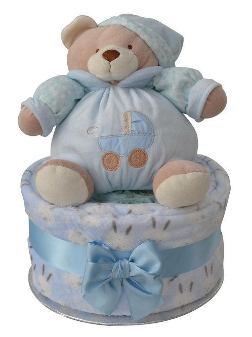 Bertie Baby Boy One Tier Cuddles Nappy Cake