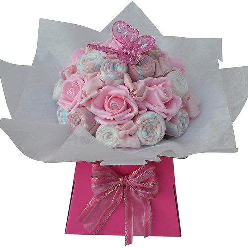 Ladies Pink Sock Bouquet