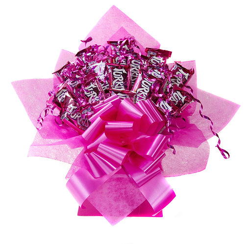Frys Turkish Delight Pink Chocolate Bouquet