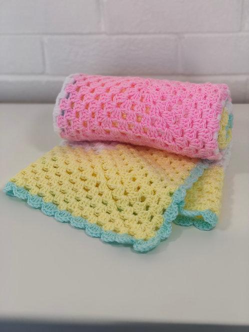 Baby Pram Blanket in Pastels