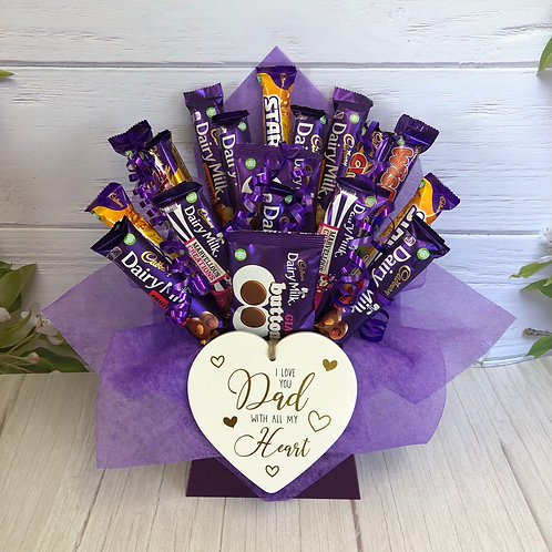 Fathers Day Love you Dad Mixed Cadburys Chocolate Bouquet