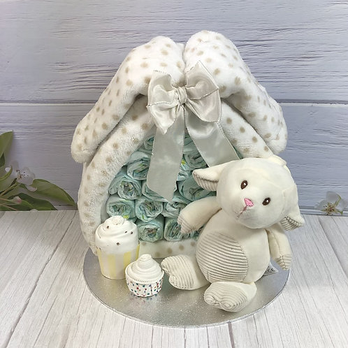 Neutral/Unisex Stork Bundle Nappy Cake
