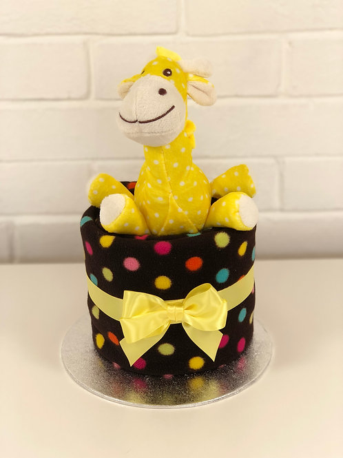 Sonny Giraffe Neutral Nappy Cup Cake