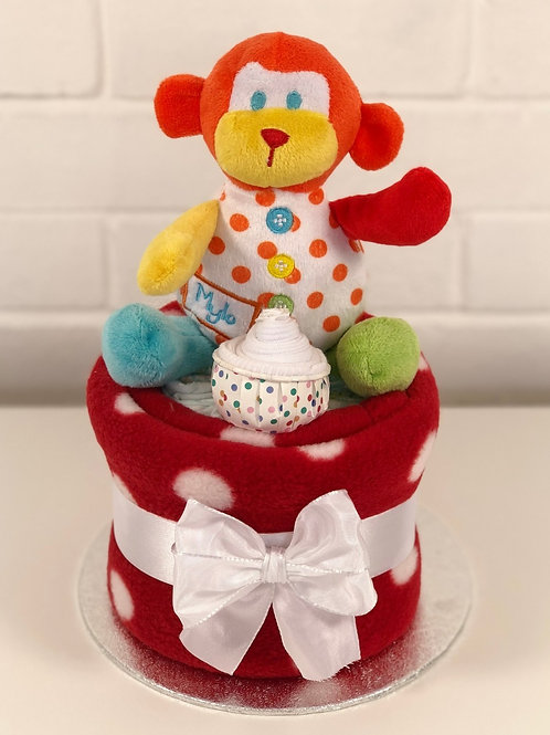 Marky Monkey Neutral Nappy Cup Cake