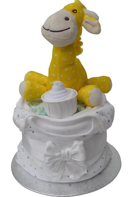 Jolly Giraffe Neutral Nappy Cup Cake