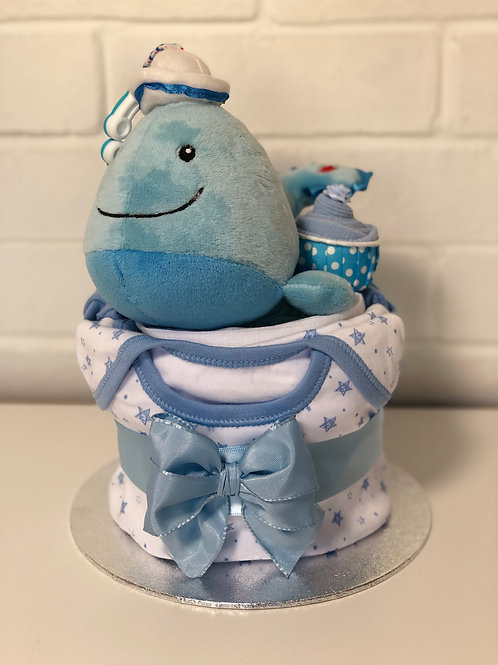 Wali Whale Baby Boy Nappy Cup Cake