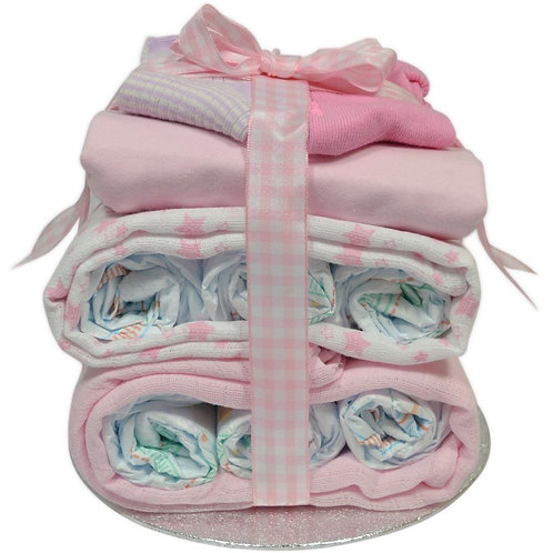 Baby Girl Nappy Stack