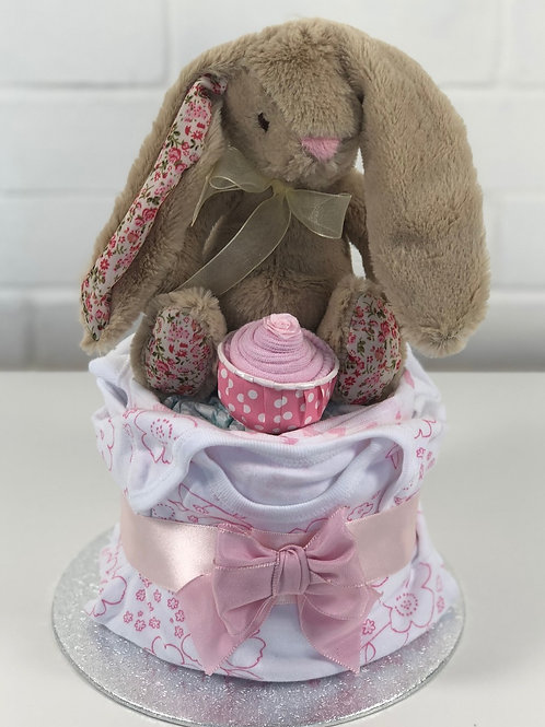 Bonnie Bunny Baby Girl Nappy Cup Cake
