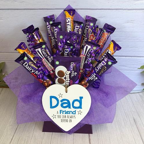 Fathers Day Dad - Friend  Mixed Cadburys Chocolate Bouquet