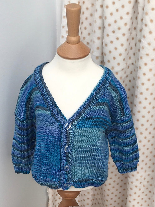 Baby Boys Hand Knitted Cardigan 3-12 Months