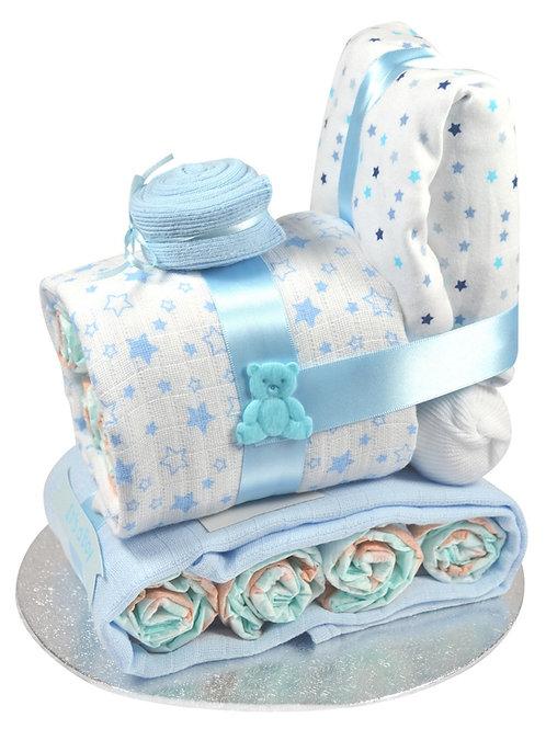 Baby Boy Train Engine Nappy Cake