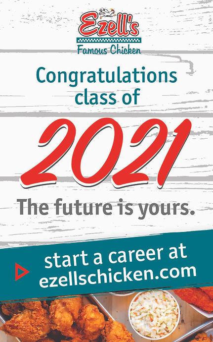 Ezell's Famous Chicken congratulating class of 2021