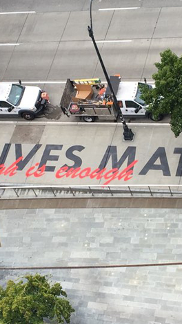 New, Long-Term Black Lives Matter Public Art Piece Installed at Seattle City Hall