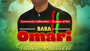 75th Birthday Community Appreciation Celebration for Omari Tahir-Garrett