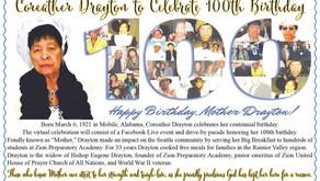 Happy 100th Bday Mother Coreather Draton