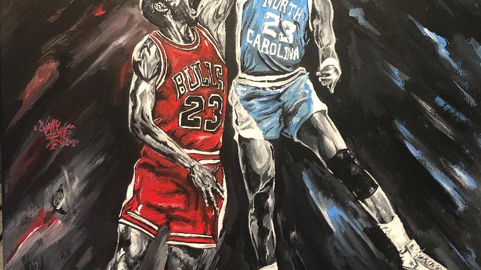 Jordan vs. Jordan 8x10 print