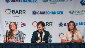 Three young people share their stories of addiction and recovery at Game Changer luncheon