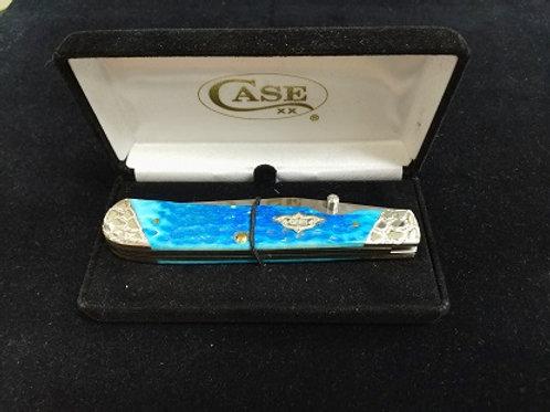 Caribbean Blue Bone Trapper Lock