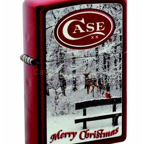 ZIPPO Christmas Lighter RED WITH DEER