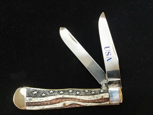 PATRIOTIC SMOOTH NATURAL BONE TRAPPER