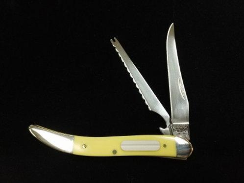 Yellow Handle Fishing Knife
