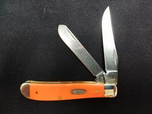 Orange Synthetic Handle Mini Trapper