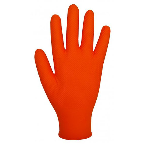 GL2001 ORANGE NITRILE GLOVE