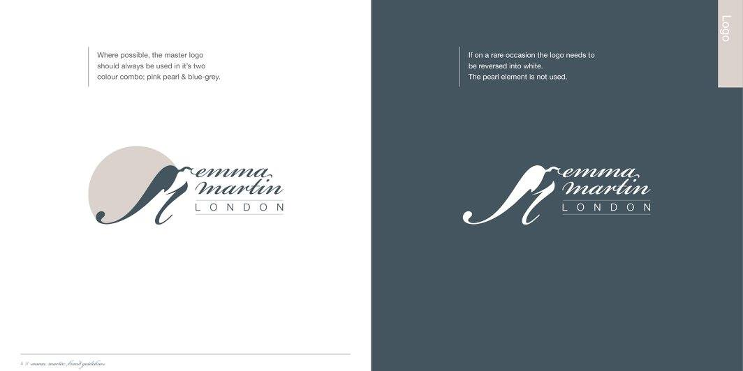 Emma Martin London logo style guide