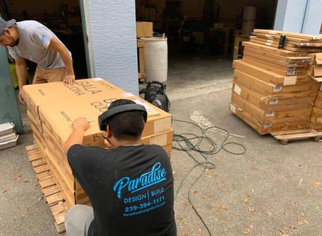Construction Supplies Headed to Freeport after Hurricane Dorian