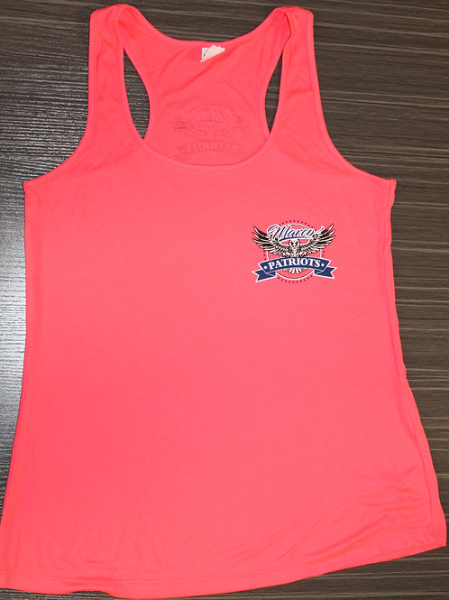 Women's Racer-back Cotton Logo Tank