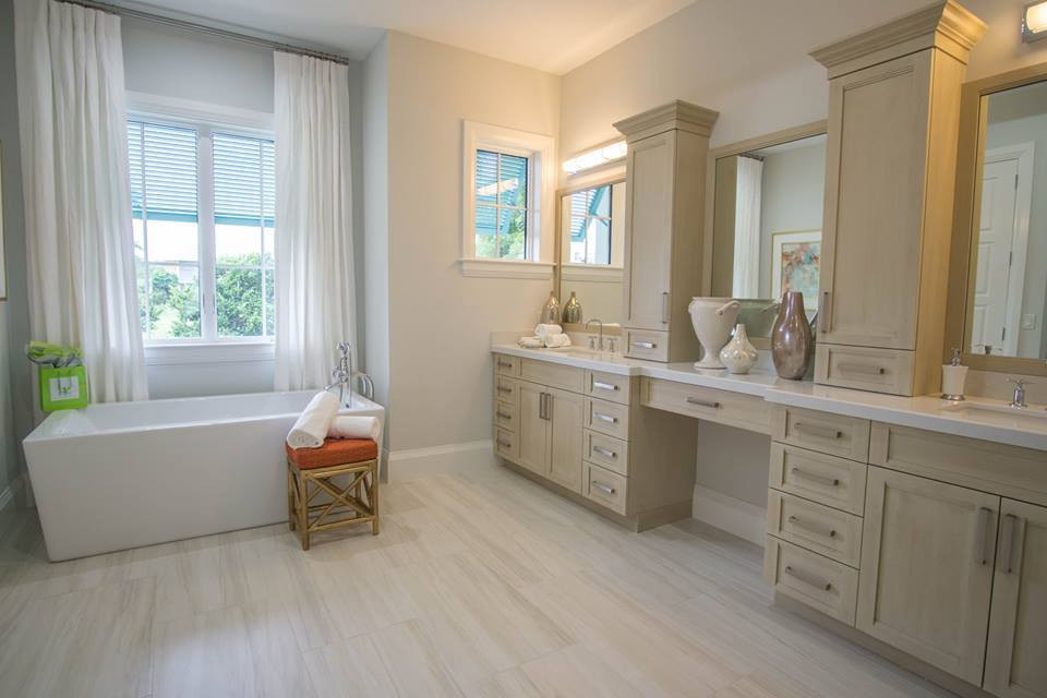 Bathrooms with built-in cabinetry