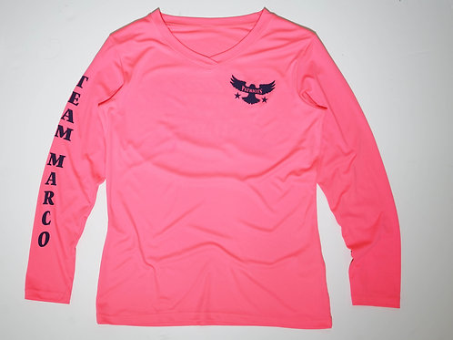 Women's Long Sleeve V Neck Dri-Fit  UV Logo Shirt