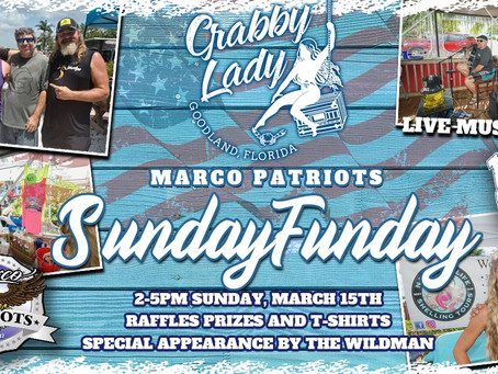 Marco Patriots March Sunday FUNday Picnic FUNdraiser is March 15th at Crabby Lady