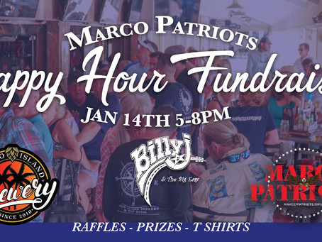 January Happy Hour FUNdraiser at Marco Island Brewery, Jan 14th