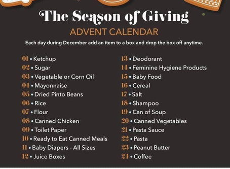 Advent Calendar for Our Daily Bread Food Pantry