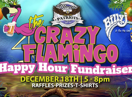 December Happy Hour Holiday FUNdraiser at Crazy Flamingo Dec 18th