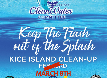 Keep The Trash out of The Splash is Rescheduled for March 8th