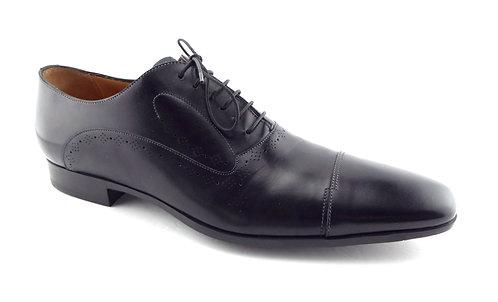 SANTONI Black Cap Toe Men's Oxford Shoes 12