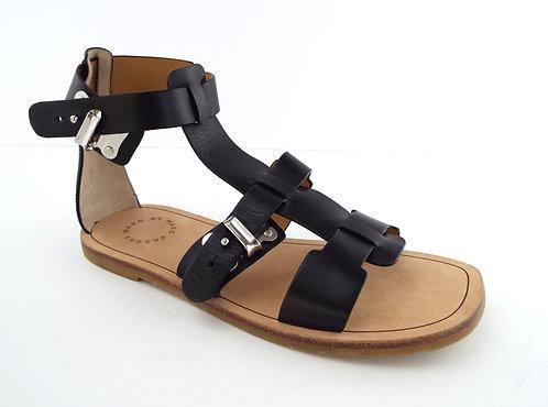 MARC JACOBS Black Gladiator Style Buckle Up Sandal 37